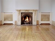 Fireplace in Empty Living Room