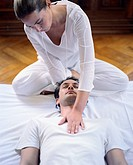 Woman Massaging Man´s Chest