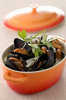 Mussels with cream