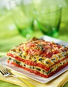 Summer vegetable lasagnes