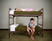 Couple Lying in Bunkbed