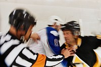 Referee Stopping Hockey Fight