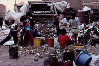 The Zebelins of Cairo, Egypt earn their living by sorting through garbage for cast out goods that can be made into new items.