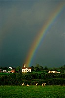 Rainbow over Irish Village