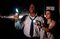 movie, Devil, USA 2010, director: John Erick Dowdle, scene with: Bokeem Woodbine, Bojana Novakovic,