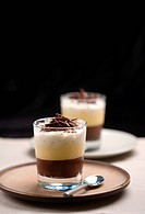 Chocolate trifle dessert