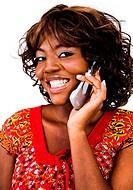 Close_up of a woman talking on mobile phone