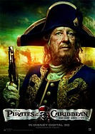 movie poster, Pirates of the Caribbean 4 _ On Stranger Tides, USA 2011, producer: Jerry Bruckheimer, director: Rob Marshall, movie with: Geoffrey Rush...