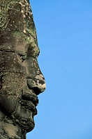 Face of Avalokiteshvara in the Eastern Section of Angkor Thom in Cambodia