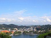 an ornamental lake in kandy