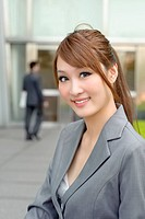 Young business manager woman