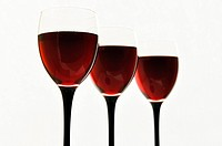 Red wine in glass glasses