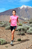 Cross_country trail runner _ woman running