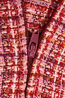 Purple Textile background and zipper