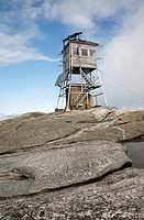Mt Cardigan State Park - Cardigan Mountain Tower on Cardigan Mountain in Orange , New Hampshire USA  This fire tower was in operation from 1924-presen...