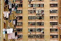 public apartment block in Hong Kong, China