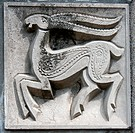 old bas_relief of fairytale deer