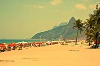 Ipanema Beach Rio De Janeiro Brazil