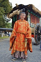 A costumed participant in the Jidai Matsuri