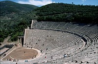 A classical stone built Greek theatre.