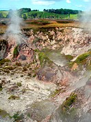 Fumaroles at Karapiti, Wairakei Natural Thermal Valley, near Tau