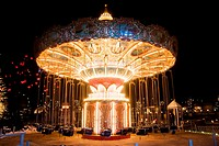 Tivoli amusement park at night, Copenhague