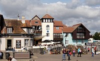 Ship Inn pub at Lymington harbour Hampshire