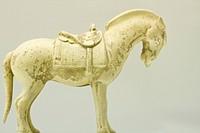 pottery horse in glaze