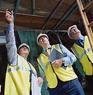 Businessmen Touring Construction Site
