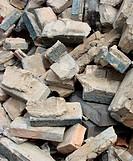 demolition stone stack of rubble