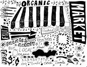 Farmers Market hand drawings