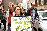October 15, 2011, Occupy Wall Street, Downtown Manhattan, Wall Street financial area vicinity, Occupy Wall Street is an ongoing series of demonstratio...