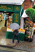 A rainy day in the English Midland town of Matlock