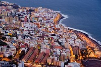 Aerial view of Santa Cruz, Isla de la Palma, Canary Islands, Spain