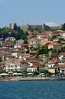 Samuel´s Fortress Ohrid Castle Homes on Hill Side Ohrid Lake Ohrid Macedonia
