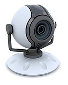 3D Web cam isolated over a white background