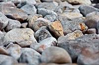 pebble stones closeup
