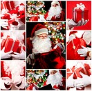 Christmas theme: Santa Claus and presents