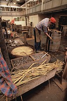 Men Making Barrels in Workshop