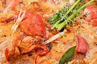 Lobster stock simmering