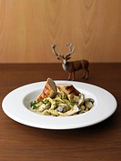 Jagdwurst with thyme spaetzle