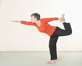 Senior woman doing exercising