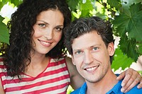 Germany, Bavaria, Couple smiling, portrait
