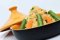 Couscous with courgette and carrots