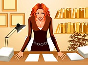 Front view of Business Woman (thumbnail)