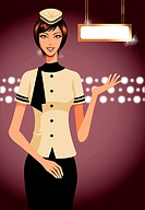 portrait of air hostess