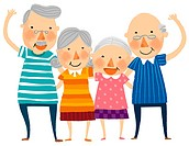 Group of elderly couple