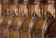 Chorgesthl, Drolerien an den Gesthlwangen mit sprichwrtlichen Darstellungen, 1493 von Johannes Gruter aus Wesel