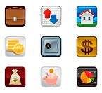 Finance saving Icon set