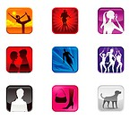 Human gesturing lifestyle icon set